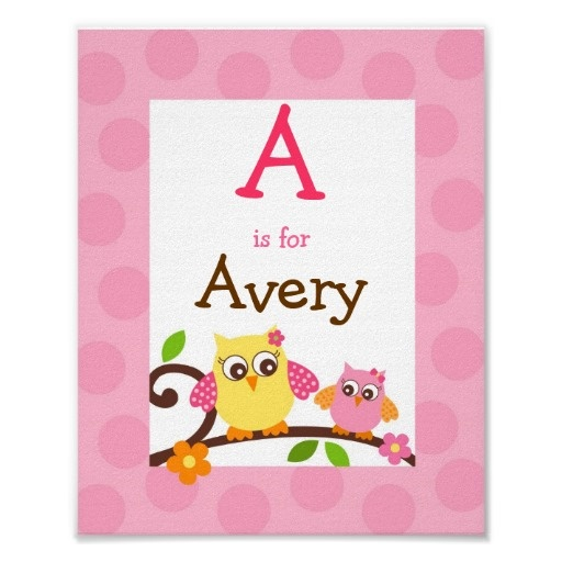 Mod Owl Flower Girls Nursery Wall Art Name Print. I'm going to have to buy one of these!!!!!!!!!!!!!!