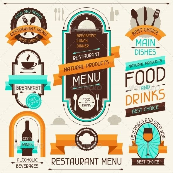 GraphicRiver Restaurant Menu Banners and Ribbons 4627523