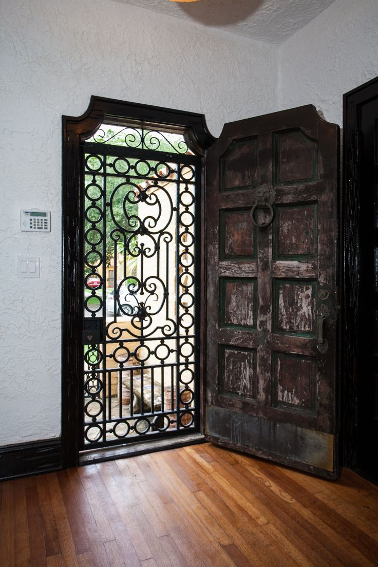Rustic Door Spanish Architecture Home In Miami