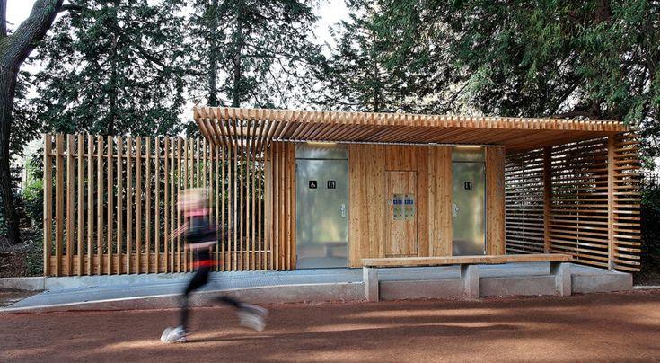 Public Toilets in the Tête d'Or Park / Jacky Suchail Architecte - banheiro publico