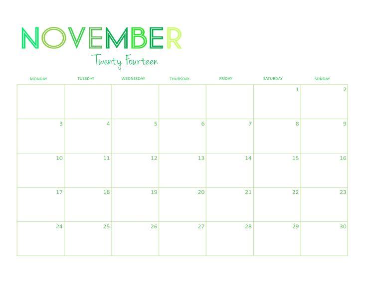 Mer enn 25 bra ideer om November 2014 calendar på Pinterest - conference sign in sheet template