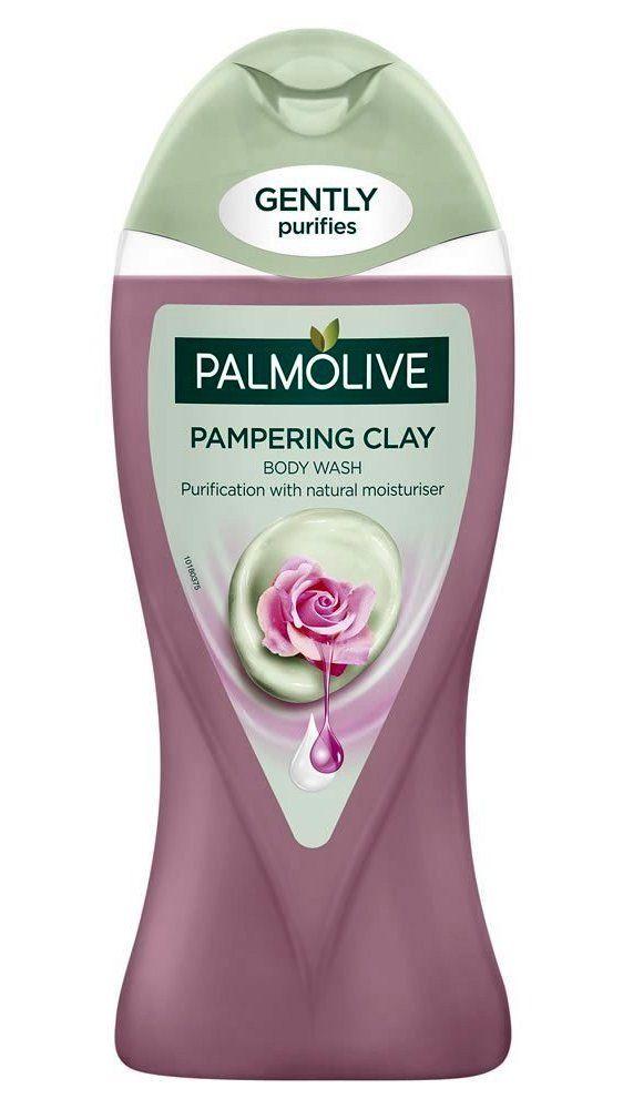 Palmolive Pampering Clay Rose Oil body wash gently exfoliating shower gel de  dus argila trandafir d849eef1a5a1