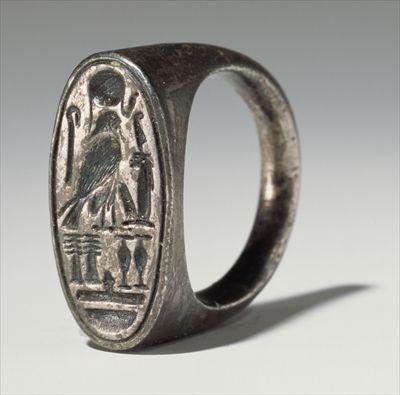 Popular Ring belonging to Ramesses IV BC New Kingdom silver