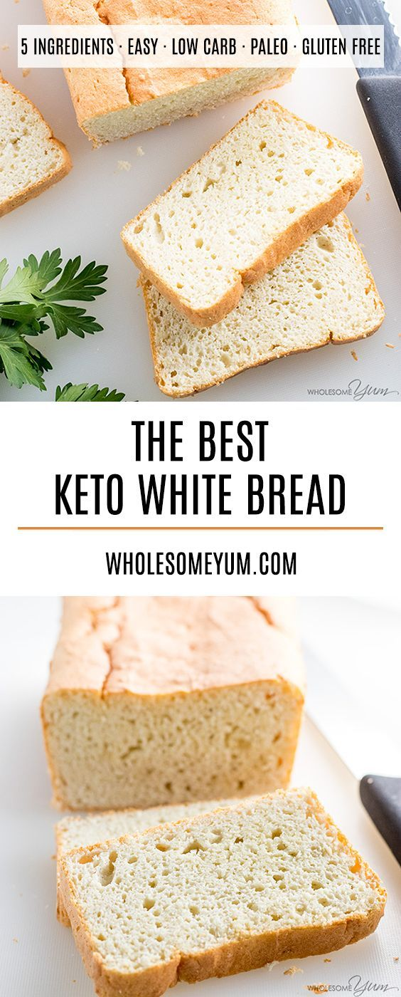 Easy Paleo Keto Bread Recipe - 5 Ingredients - If you want