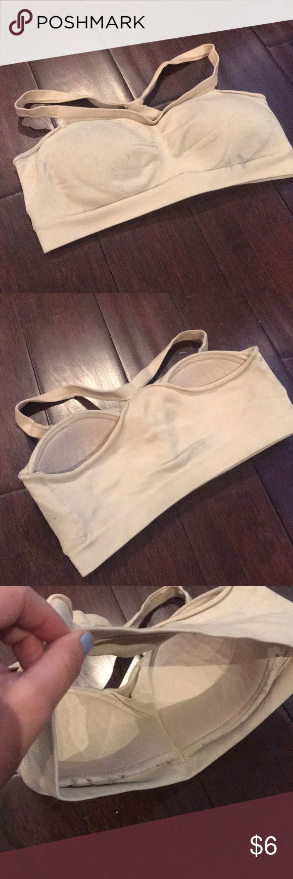 Barely There Nude Colored Cup Lined Sports Bra Barely There brand sports bra. Nude colored, cup lined, NO underwire support. Size Juniors Medium. Does not have an actual bra sizing but this would be very similar fit to a 34B size Barely There Intimates & Sleepwear Bras