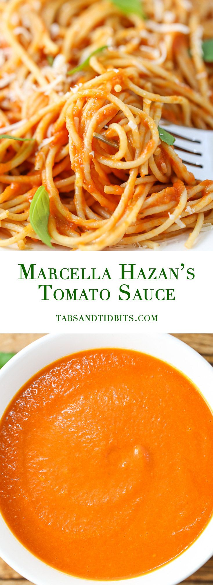Marcella Hazan's Tomato Sauce - A simple and versatile three ingredient tomato sauce that is velvety delicious!