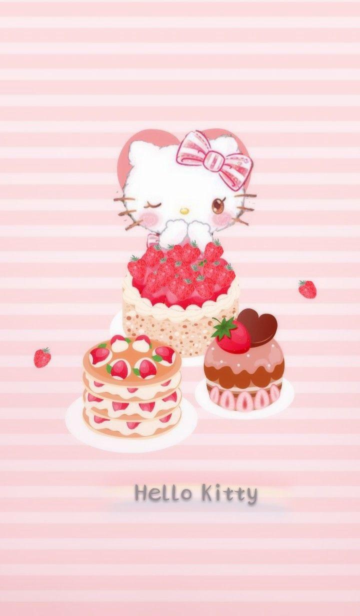 Pin De Cinnamon Roll En วอลเปเปอร Hello Kitty Fondos De Hello Kitty Arte De Hello Kitty
