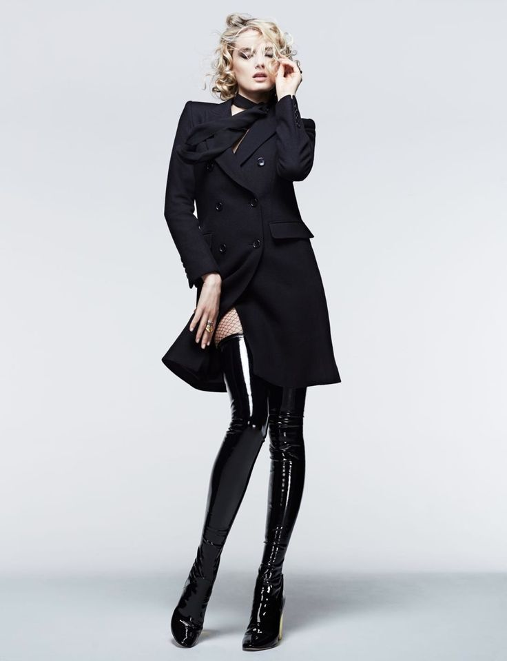 Lily Donaldson Models The Fall 2015 UNIQLO x Carine Roitfeld collaboration in Madame Figaro France September 2015