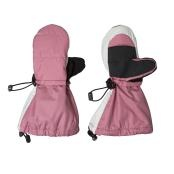 Stonz Toddler/Youth Mittz are made of water and wind-resistant nylon that protects hands from the elements. These Mittz provide amazing warmth by being packed with Thinsulate and lined with fleece. The unique design allows the child to fasten them by themselves and the two toggles at the wrist and arm ensure they stay on. The long wrist covers outerwear keeping warmth in and cold out.