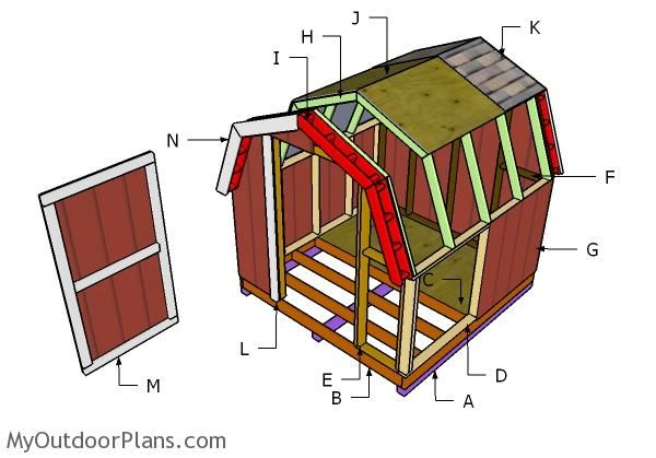 1000 images about outdoor shed plans free on pinterest for 8x8 house plans