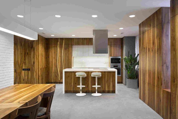Apartment in Kiev by Ryntovt Design   #apartment #concept #interior #light #design #chair #space #painting #ukraine #wood #wooddesign #kiev