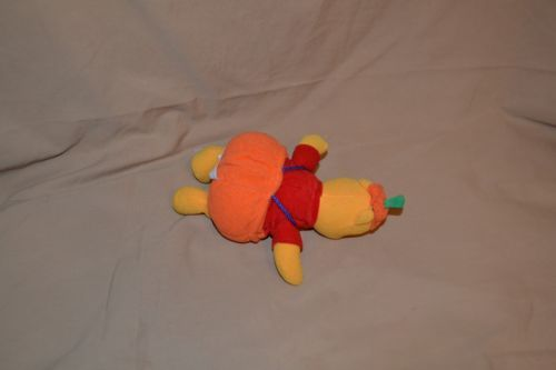 "Yuhjydeeqwwi  p"" Winnie The Pooh Bear Wearing Pumpkin Outfit Plush Dolls Toys Halloween 1999"