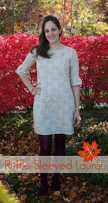 Ruffly-Sleeved Laurel dress