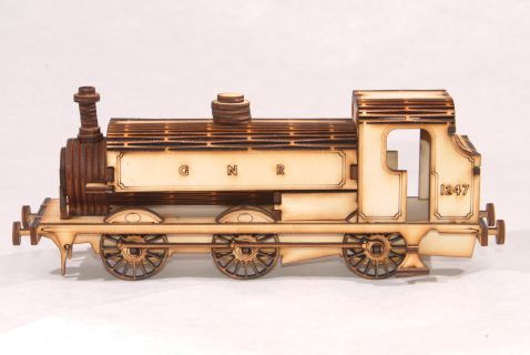 Modelled+on+the+GNER+1247+Loco+currently+at+The+National+Railway+Museum+in+York+++Made+from+3mm+Birch+Plywood,+and+measuring+approx+22cm+L+x+5.5cm+W+x+8cm+H++The+kit+comes+complete+with+full+instructions+for+assembly+and+requires+use+of+PVA+glue+(included)