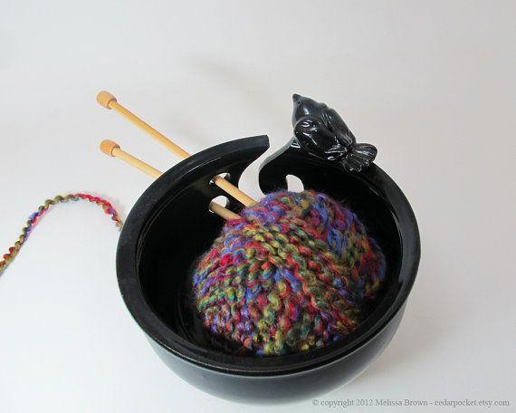 Cat Ceramic Wool Bowl Uk