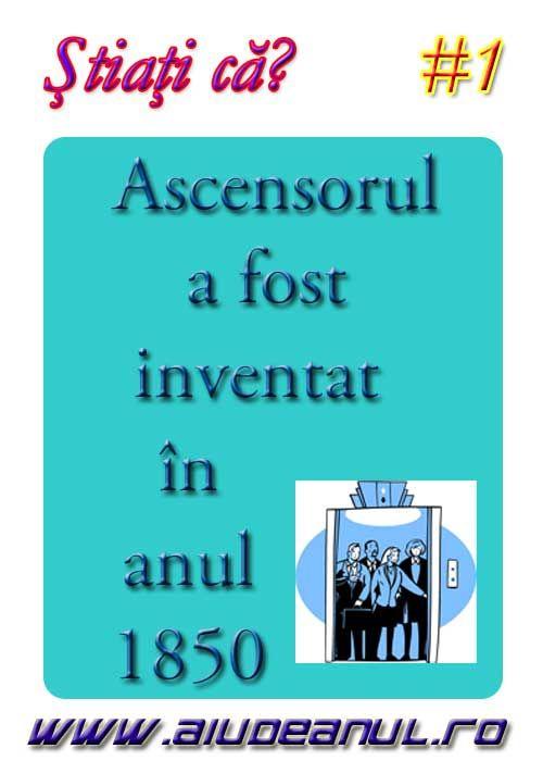 Ascensorul a fost inventat în anul 1850?