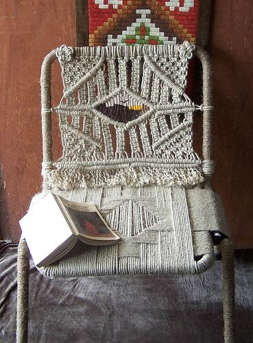 Macrame chair (inspiration - something to try)