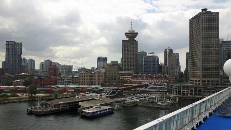 View of Vancouver from the Norwegian Sun before we set sail for Alaska.