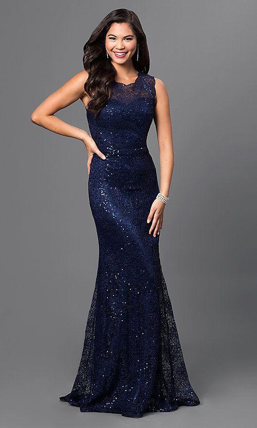 de95fa3f576b Sequin-Lace Floor-Length Formal Gown Sequin-Lace Floor-Length Formal Gown