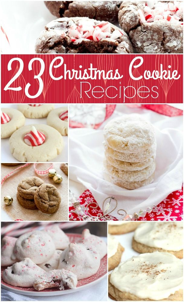 Christmas Cookie Exchanges are so much fun, and I've put together a round up of some of my favorite Christmas recipes. Cookies are always a perfect dessert idea and make a great gift idea, too! Need a hostess gift? Put a dozen cookies in a gift bag along with the recipe! Let your hostess know they can be frozen for a treat after the holidays, too!