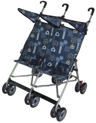 I couldn't imagine trying to push one of these around....You know what it's like trying to push a SINGLE umbrella stroller!
