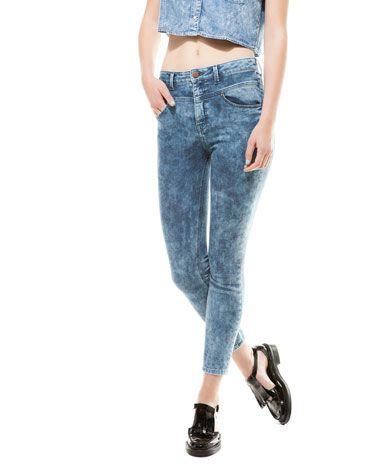 Jeans Bershka a vita alta