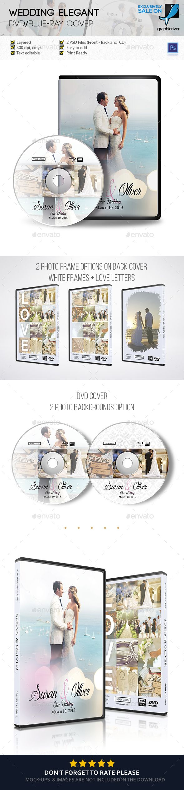 Wedding Elegant DVD Case Cover