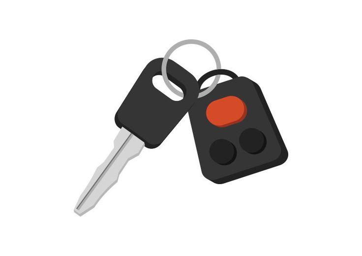 Car Key Free Flat Vector