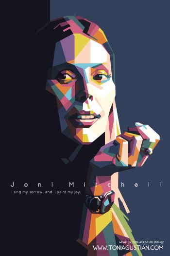 Joni Mitchell WPAP Color Alt #3