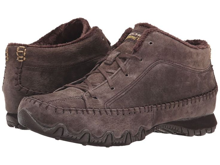 SKECHERS Bikers - Totem Pole Women's Lace up casual Shoes Chocolate #WomenCasualShoes