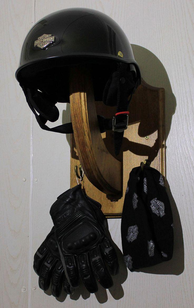 Motorcycle Helmet Holder Bicycle Helmet Hanger Wooden By