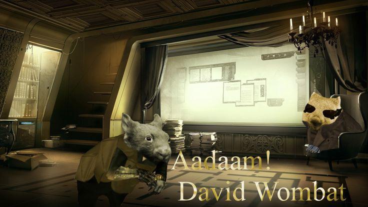 Adam Jensen and David Sarif as wombats