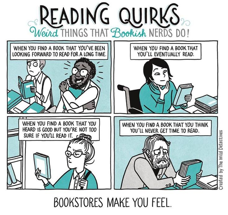 Different types of books, and how they make you feel.