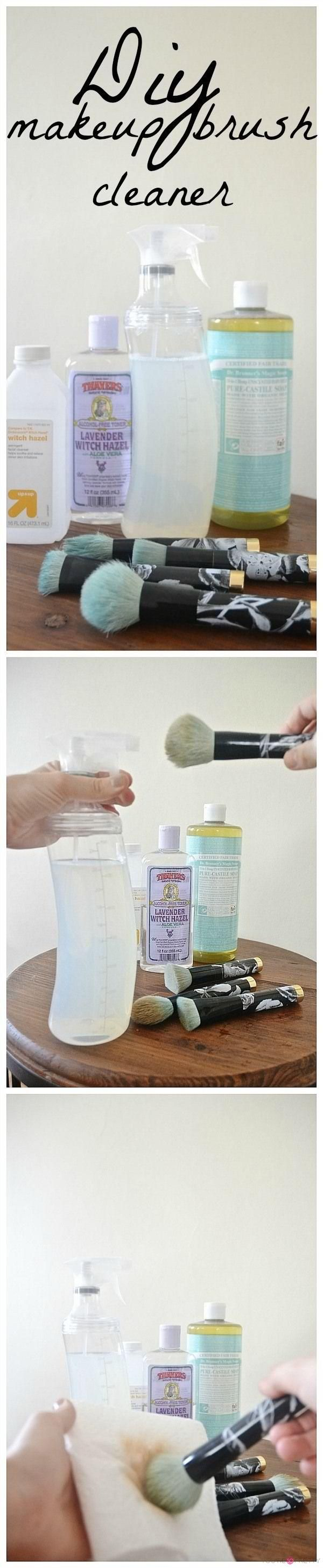 DIY Makeup Brush Cleaner Spray   How to clean makeup brushes and how to wash makeup brushes at You're So Pretty   https://youresopretty.com    More here.......            https://www.youtube.com/watch?v=tx5lVyWzkrg       #makeup #makeupartist #makeupbrushes #eye
