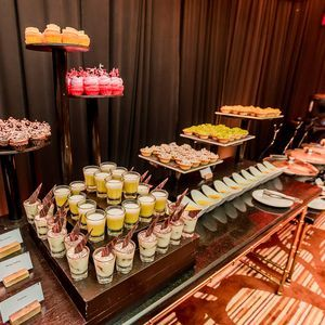 Dessert table at the reception.