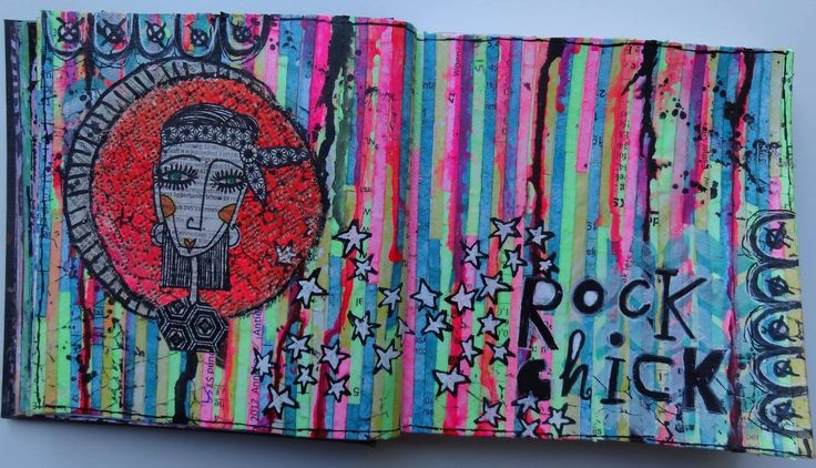 Another beautiful Art Journal spread. Made by Coby :)