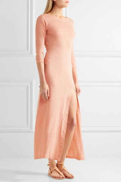 Solid and Striped linen jersey maxi dress
