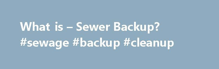 """What is – Sewer Backup? #sewage #backup #cleanup http://florida.nef2.com/what-is-sewer-backup-sewage-backup-cleanup/  # RESOURCES F BLOG F Special Feature What is """"Sewer Backup""""? While floods are probably best known for causing extensive water damage to homes and businesses, they can also cause sewage from sanitary sewer lines to back up into houses through drain pipes. These backups not only cause damage that is difficult and expensive to repair, but also create health hazards. Most…"""