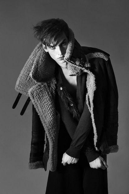 Model: Philipp Bierbaum. High fashion winter ideas.