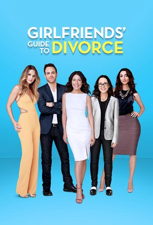 "Girlfriends' Guide to Divorce (2014-...). Based on the best-selling ""Girlfriends' Guide"" book series by Vicki Iovine, the series follows Abby, a self-help book author who hides the fact that she's separated from her husband, as she starts to navigate her life as a single woman in her early 40s in Los Angeles. She finds herself seeking advice from her divorced friends, instead of her married ones which leads to some unexpected and life-changing experiences."