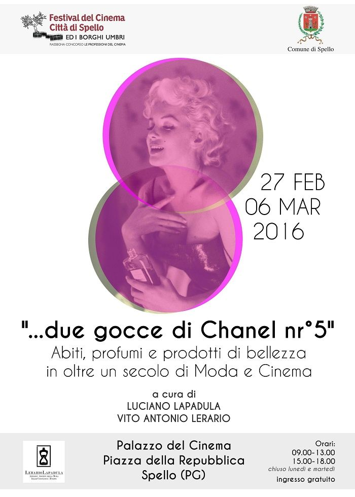 Our Fashion Exhibition for Spello Film Festival edt. 2016  #fashion #beauties #marilynmonroe #makeup #perfume #parfume #vogue #chanel #love #amazing #museum #moda #history #movie  #filmfestival