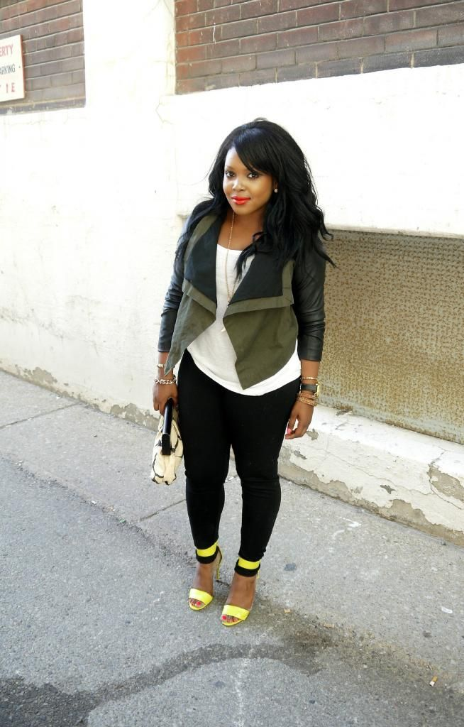 Chic jacket + neon heels   My Voguish Diaries