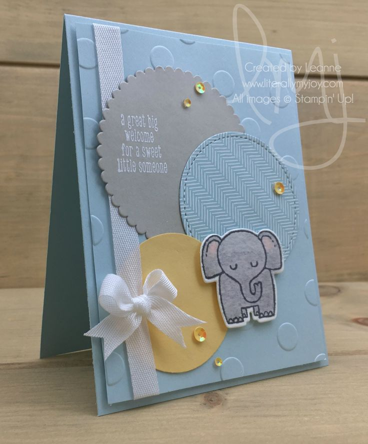 Big Welcome | Stampin' Up! | A Little Wild #literallymyjoy #elephant #baby #littleone #welcomingbaby #CoffeeBreakDSP #20172018AnnualCatalog