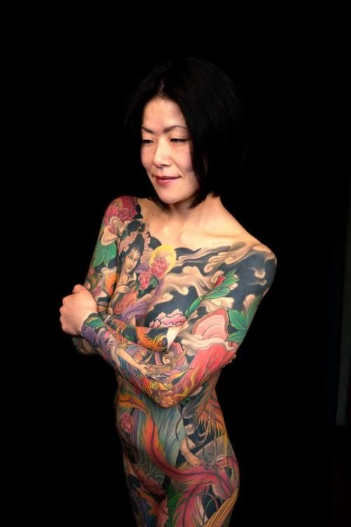 Grandong tattoos japanese yakuza girl tattoo design tat for Japanese tattoo art