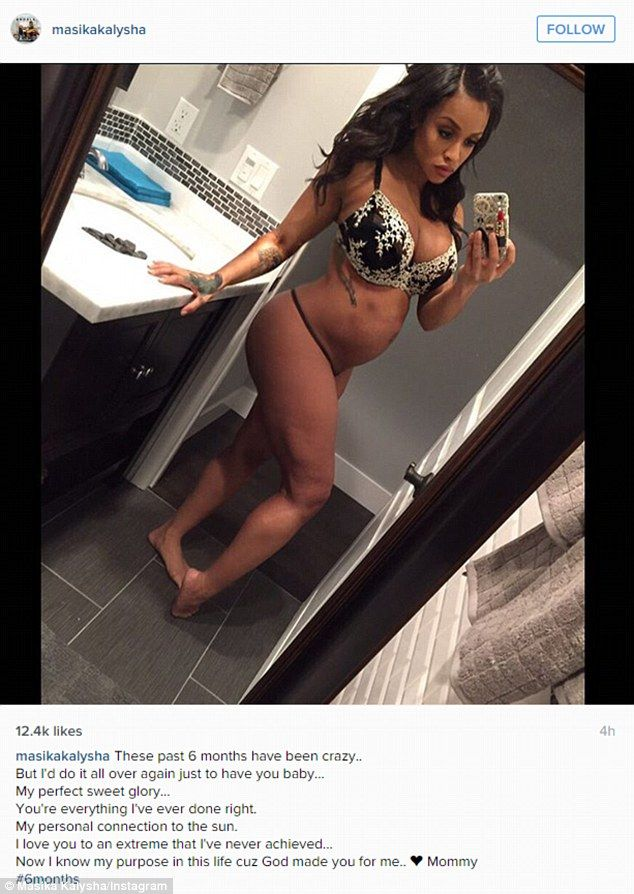 Baby bump: Fetty Wap's on-off girlfriendMasika Kalysha announced her pregnancy with this post on Instagram on Friday