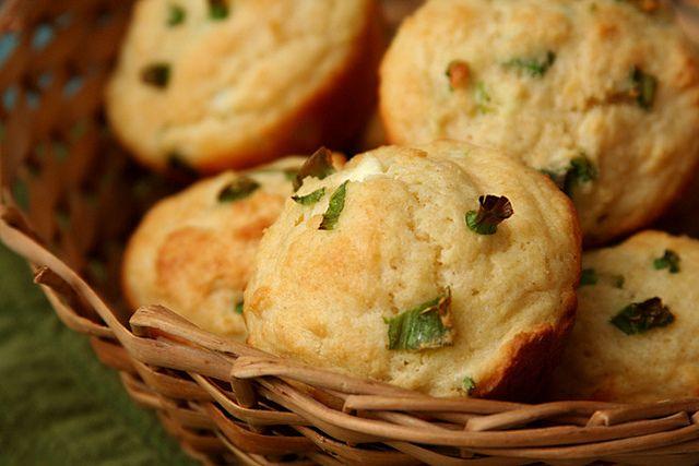 goat cheese scallion muffins