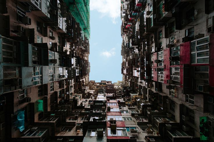 Quarry Bay Hong Kong Transformers 4 architecture photography looking up