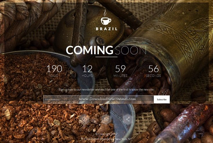 Brazil is a wonderful #HTML template for #coffee shop #coming soon / under construction website with countdown timer download now➩  https://themeforest.net/item/brazil-coffee-countdown-coming-soon/19472811?ref=Datasata