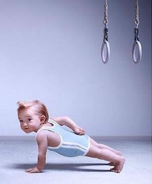 CrossFit Baby! Can't wait to make my children pose for CrossFit pictures!!! :) lol.