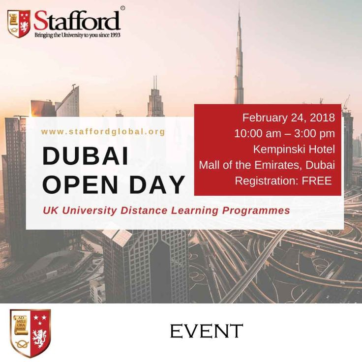 Studying while working in the UAE? Yes, that is possible! Stafford Global has helped thousands of students across the GCC earn their higher education degree from international distance learning universities in the UK which boast of high graduate employability rates. You can be the next degree holder from one of the exceptional universities in the UK! Register here for free academic consultation: https://blog.staffordglobal.org/events/open-day-uk-university-distance-learning-programmes-dubai